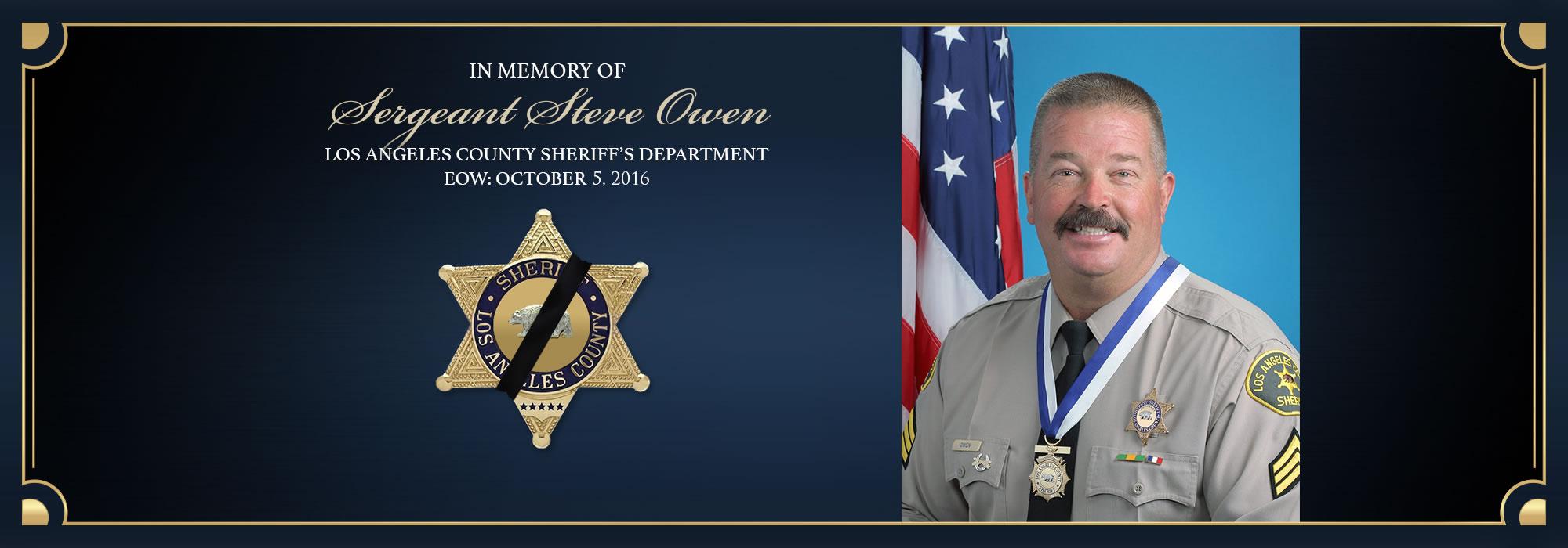 In Memory of Sergeant Steve Owen