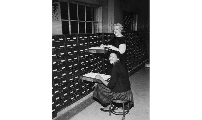 1964: Records Bureau File Room