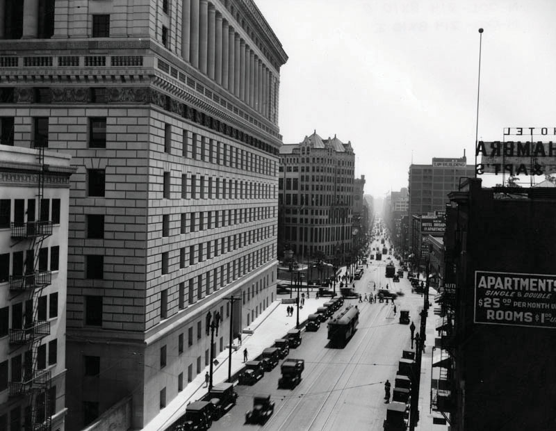 1920s Hall of Justice looking south on Broadway WATER and POWER