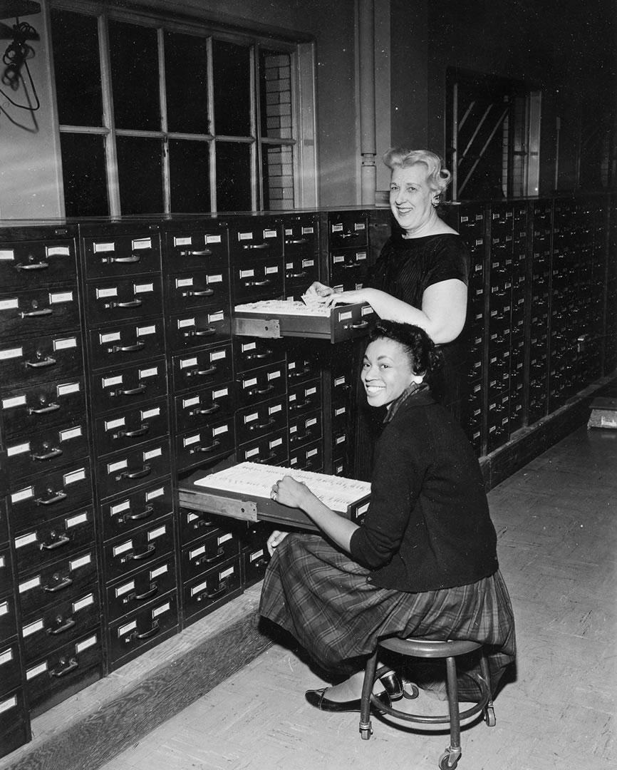 Records Bureau File Room 1964